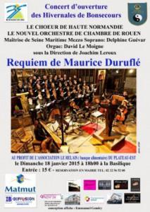 Affiche concert Durufle janvier 2015