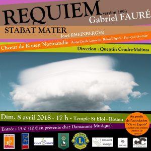 Requiem de Fauré et Stabat Mater de Rheinberger au temple St Éloi