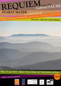Requiem de Fauré et Stabat Mater de Rheinberger à Neufchâtel-en-Bray